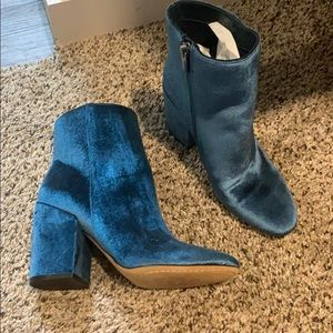 Blue/Teal ankle boots